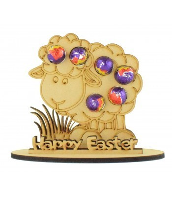 6mm Easter Sheep Shape Mini Creme Egg Holder on a Stand - Stand Options