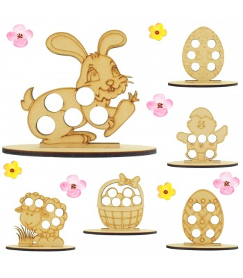 6mm Easter Themed Mini Creme Egg Holder on a Plain Stand - Bargain Pack of 12