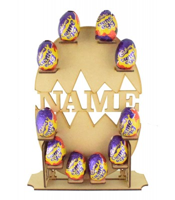 Laser Cut Personalised Cadbury Creme Egg Easter Display Stand