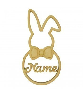 Laser Cut Personalised Boy Easter Rabbit Frame Bauble - Size Options