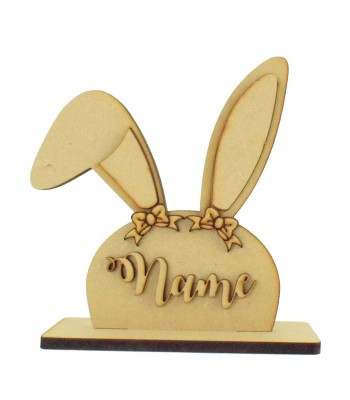 Laser Cut 3D Personalised Girl Easter Bunny Head on a Stand