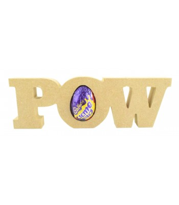18mm Freestanding 'POW' Comic Book Superhero Word CREME EGG Holder