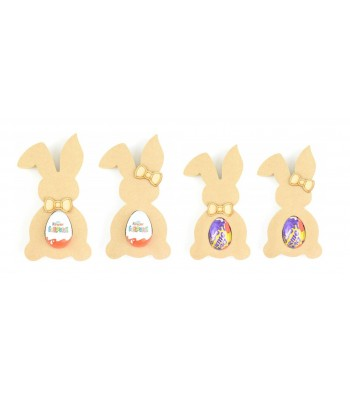 18mm Freestanding Easter Rabbit KINDER or CREME EGG Holder with Bow