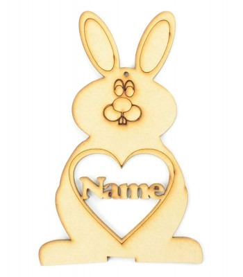 Laser Cut Personalised Easter Rabbit