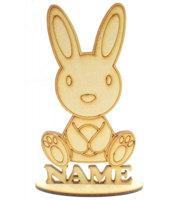 Laser Cut Personalised Easter Rabbit on a stand