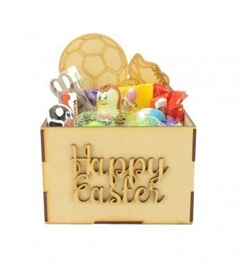 Laser Cut Easter Hamper Treat Boxes - Football and Boots Shape