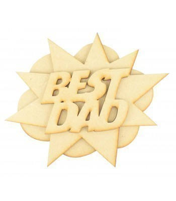 Laser Cut 'Best Dad' 3D Comic Book Explosion Plaque