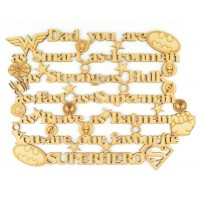 Laser Cut 'Dad you are as Smart as Ironman, Strong As Hulk....' Superhero Quote Sign