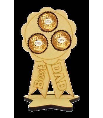 6mm Best Dad Rosette Ferrero Rocher Holder on a Star Stand