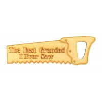 Laser Cut 'The Best Grandad I Ever Saw' Etched Mini Saw Shape