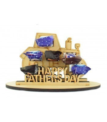 6mm Fathers Day Tractor Shape Mini Chocolate Bar Holder on a Stand - Stand Options