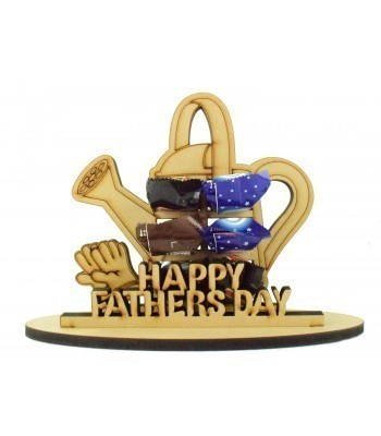 6mm Fathers Day Watering Can Shape Mini Chocolate Bar Holder on a Stand - Stand Options