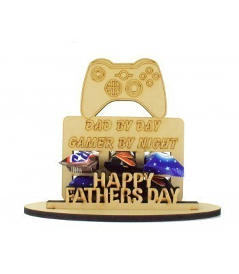 6mm Fathers Day X-Box Controller Shape Mini Chocolate Bar Holder on a Stand - Stand Options