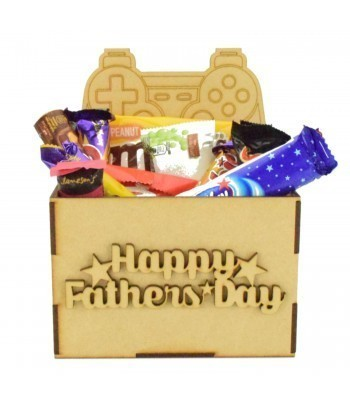 Laser Cut Fathers Day Hamper Treat Boxes - Playstation Controller