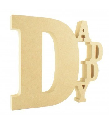 18mm Freestanding MDF Tumbling 'Daddy' Joined Sign