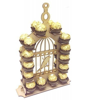 Laser Cut Small Detailed Bird Cage Ferrero Rocher Wedding Table  Display Stand