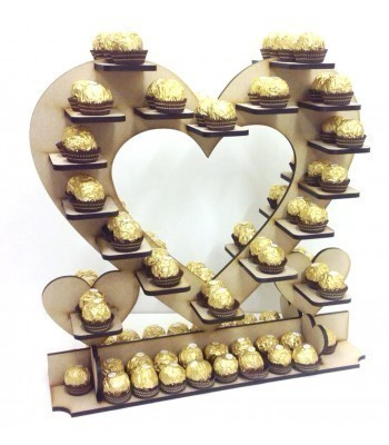 Freestanding Large Ferrero Rocher Wedding Table Heart Display Stand