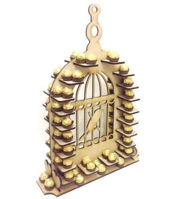 Freestanding Large Detailed Bird Cage Ferrero Rocher Wedding Table Display Stand