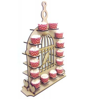 Freestanding Large Detailed Bird Cage Cupcake Wedding Table Display Stand
