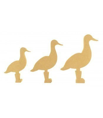 18mm Freestanding MDF Duck with Wellies Shape