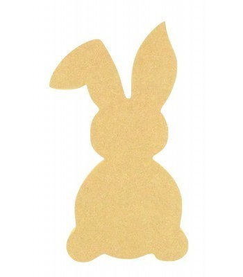 18mm Freestanding MDF Easter Rabbit Shape (Design 3)