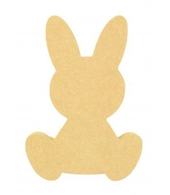 18mm Freestanding MDF Easter Rabbit Shape (Design 4)