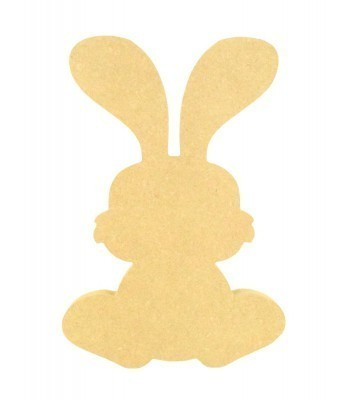 18mm Freestanding MDF Easter Rabbit Shape (Design 5)