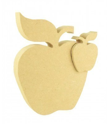 18mm Freestanding MDF  Apple with linking small Apple Shape