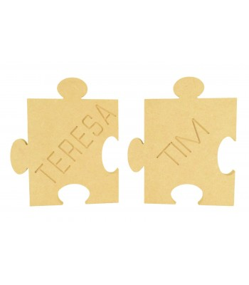 18mm Freestanding MDF Personalised Puzzle Piece