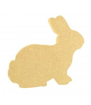 18mm Freestanding MDF Easter Rabbit Shape (Design 2)