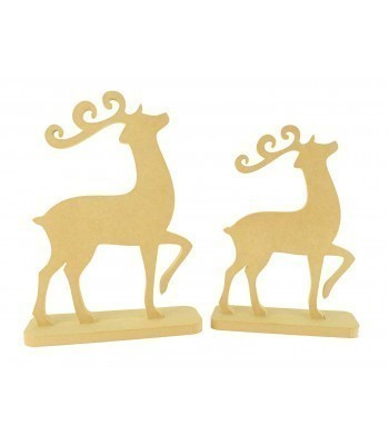 18mm Freestanding MDF Reindeer on Stands - Size Options