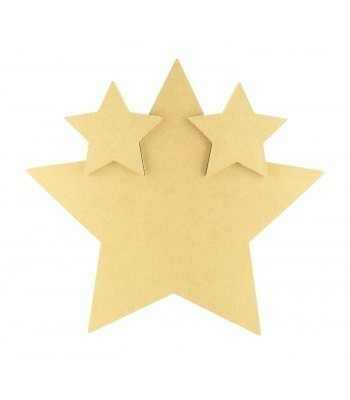18mm Freestanding MDF Linking Stars In A Large Star - Options Available