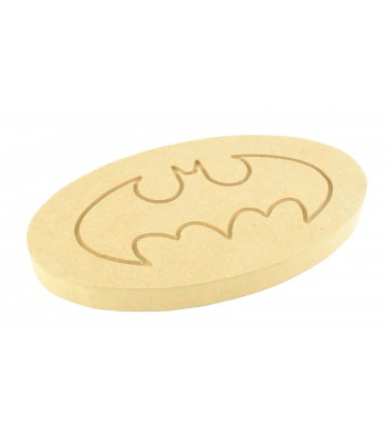 18mm MDF Engraved Batman Logo Shape