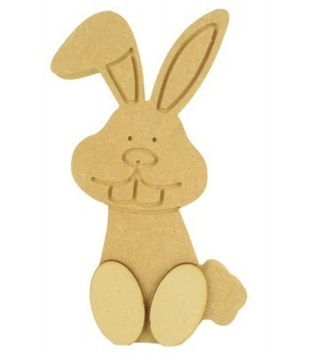 18mm Freestanding Engraved Easter Rabbit with 3D Feet