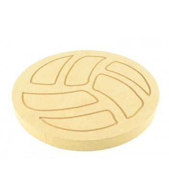 18mm MDF Engraved Football Shape
