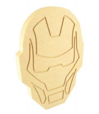 18mm Freestanding MDF Engraved Ironman Head Shape
