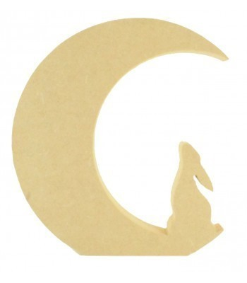 18mm Freestanding MDF Moon with sitting Hare inside