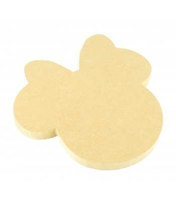 18mm MDF Mouse Head with Bow Shape