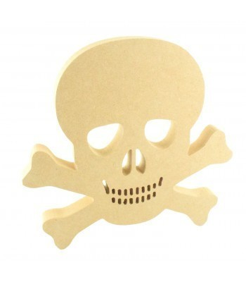 18mm Freestanding MDF Skull and Cross Bones Shape