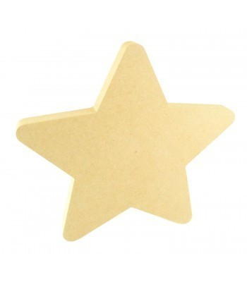 18mm Freestanding MDF Chunky Star Shape