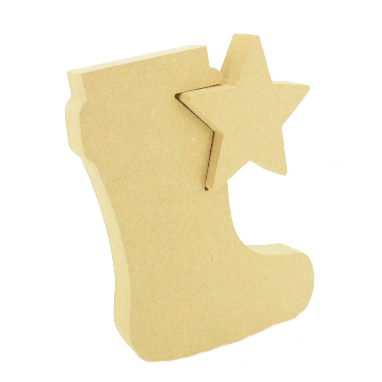MDF Stockings Hanging Christmas Stockings Shapes Christmas Craft Blanks Tags