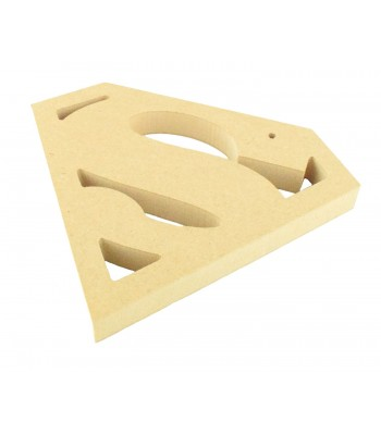18mm MDF Superman Logo Shape