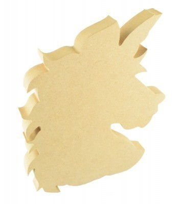 18mm Freestanding MDF Unicorn Head Shape