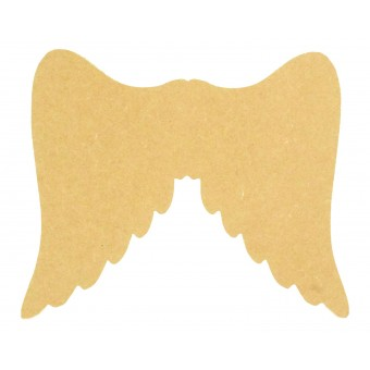 Free Standing MDF Angel Shape Christmas Crafts 200mm,150mm,100mm