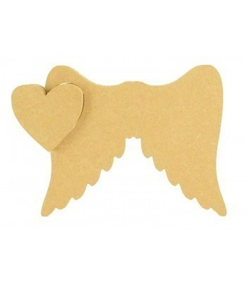 18mm Freestanding MDF Star in Angel Wings