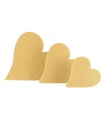 18mm Freestanding MDF Curved Heart Shape