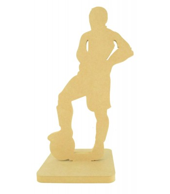 18mm Freestanding MDF Large Footballer Medal Holder on a Stand