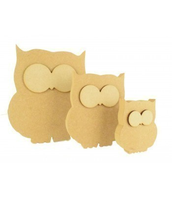 18mm Freestanding MDF Owl Shape with 3D Eyes