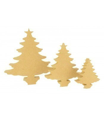 18mm Freestanding MDF Christmas Tree Shape