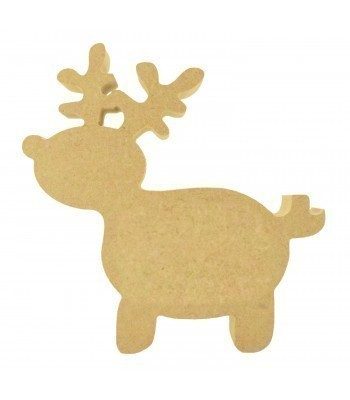 18mm Freestanding MDF Basic Christmas Reindeer Shape